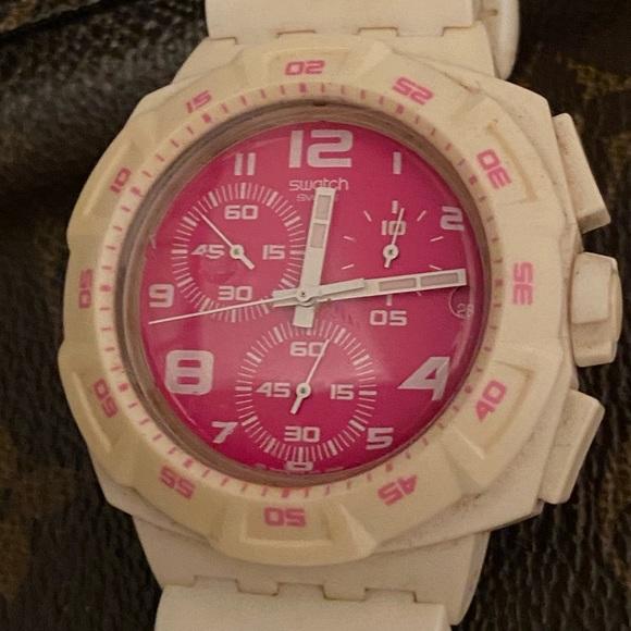 Swatch Accessories Pink Faced Watch Poshmark